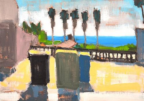 """""""Trash Cans, Ocean Beach"""" original fine art by Kevin Inman"""