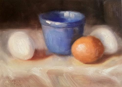 """One Brown Egg"" original fine art by Cindy Haase"