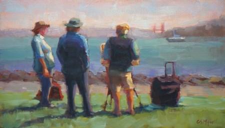 """Tiburon Painters"" original fine art by Carol Myer"