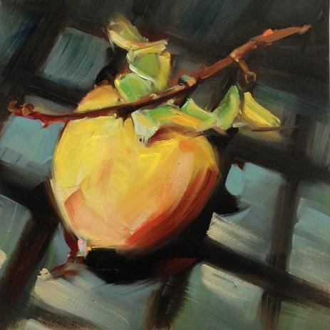 """The Flighty Persimmon"" original fine art by Patti McNutt"
