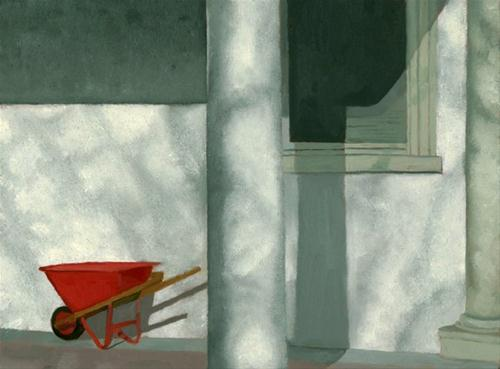 """TheRed Wheelbarrow"" original fine art by Nancy Herman"