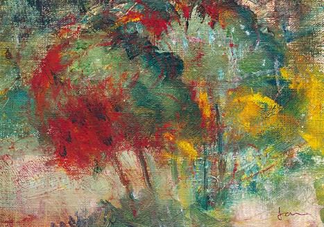 """Happy Landscape"" original fine art by Janet Gunderson"