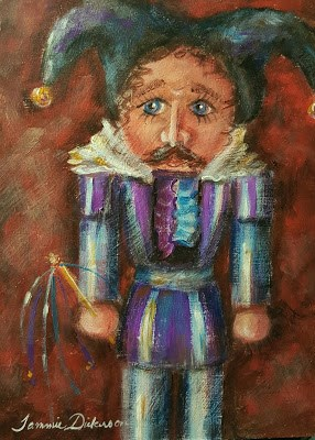 """Jester Nutcracker"" original fine art by Tammie Dickerson"