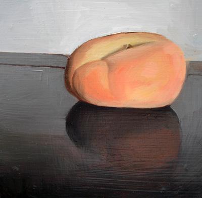 """Donut Peach on Endtable"" original fine art by Michael William"
