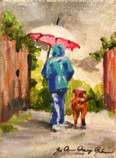 """Sam and Rufus"" original fine art by JoAnne Perez Robinson"