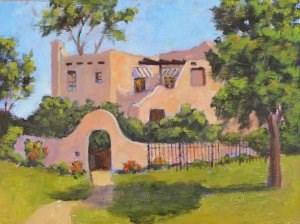 """The President's House"" original fine art by Robert Frankis"