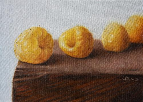 """Yellow Raspberries"" original fine art by Jonathan Aller"