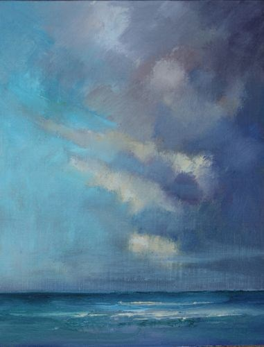 """""""Cloudscape over the Atlantic, Seascape Paintings by Arizona Artist Amy Whitehouse"""" original fine art by Amy Whitehouse"""