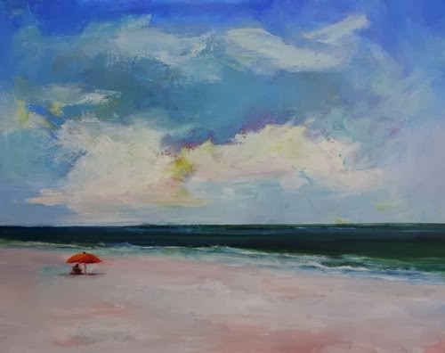 """""""Beach Dreams, Beach and Ocean Paintings by Arizona Artist Amy Whitehouse"""" original fine art by Amy Whitehouse"""