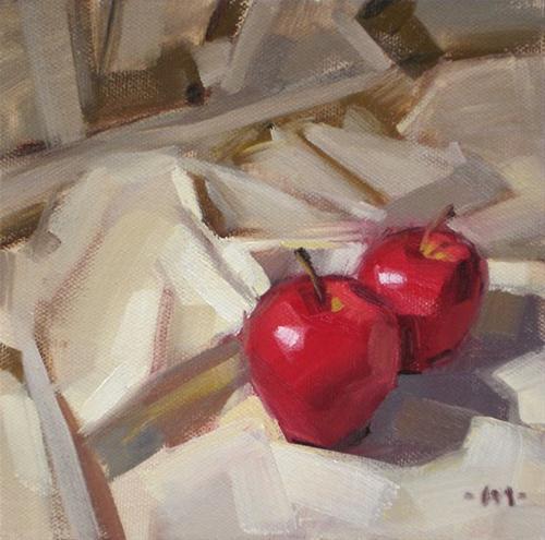 """Among the Folds"" original fine art by Carol Marine"