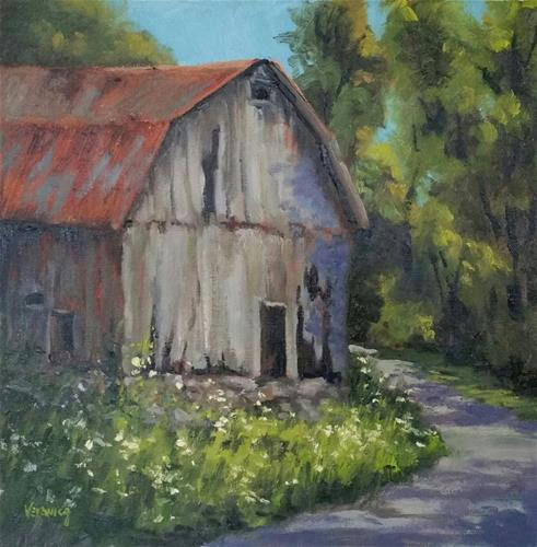 """Barn at Devils Well"" original fine art by Veronica Brown"