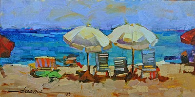 """""""Salty Coconut Breezes SOLD"""" original fine art by Dreama Tolle Perry"""