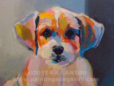 """Runt, In Process"" original fine art by Kimberly Santini"