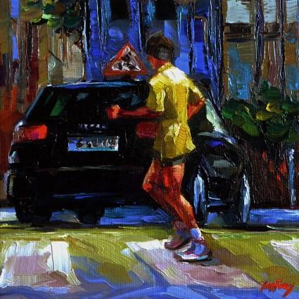 """while jogging"" original fine art by Jurij Frey"