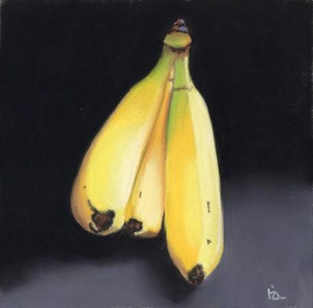 """bananas anyone?"" original fine art by Ria Hills"