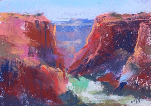 """Hillerman Mystery? Our Day in Canyon de Chelly"" original fine art by Karen Margulis"