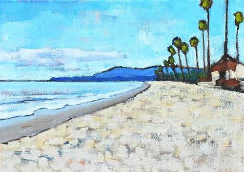 """East Beach in Santa Barbara Painting"" original fine art by Kevin Inman"