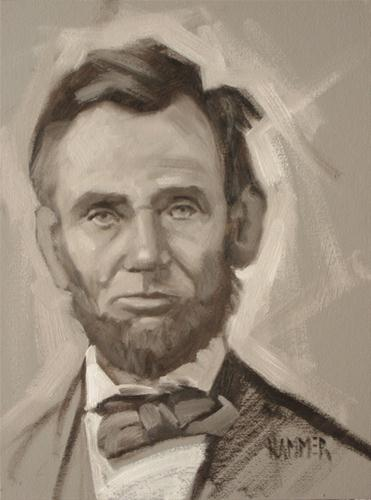 """""""Lincoln in gris"""" original fine art by Claudia Hammer"""