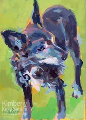 """Lucky - Indeed!!"" original fine art by Kimberly Santini"
