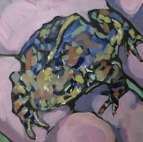 """""""Handy Toad"""" original fine art by Kat Corrigan"""
