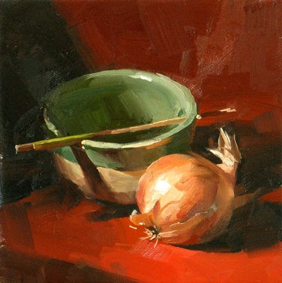 """""""What to Cook? --- Sold"""" original fine art by Qiang Huang"""