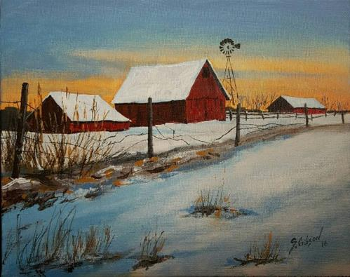 """Johnathon McCords Farm"" original fine art by Steve Gibson"