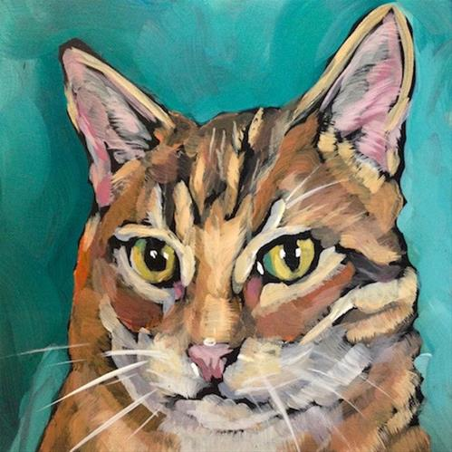 """""""March 23 Mo!  Or is this Bo?"""" original fine art by Kat Corrigan"""