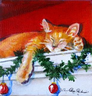 """Holiday Snooze"" original fine art by JoAnne Perez Robinson"