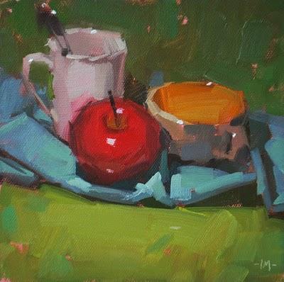 """""""Floating on Blue"""" original fine art by Carol Marine"""