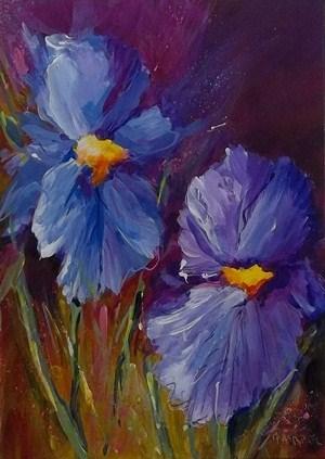 """Spring Beauties"" original fine art by Alice Harpel"