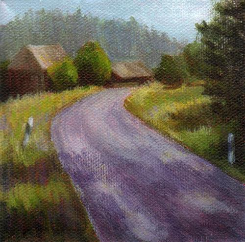 """""""The Bend in the Road"""" original fine art by Debbie Shirley"""