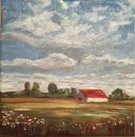 """Countryside"" original fine art by Natasha Ramras"