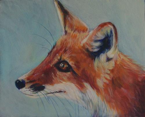 """""""Baby fox"""" original fine art by Dawn Melka"""