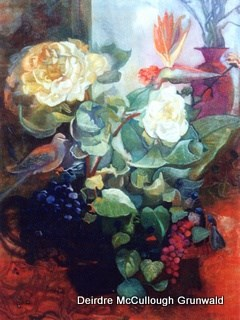 """Stillife with Dove"" original fine art by Deirdre McCullough Grunwald"