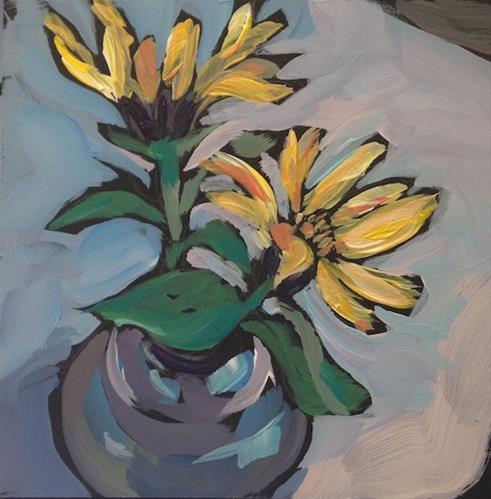 """Beaner's Sunflowers"" original fine art by Kat Corrigan"