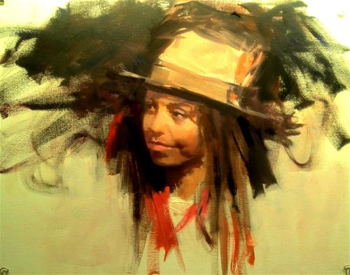 """head of young boy"" original fine art by Richard Schiele"