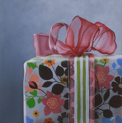 """""""The 1st Gift"""" original fine art by Jelaine Faunce"""