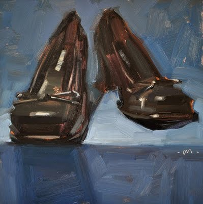"""Mary Jane Heels"" original fine art by Carol Marine"