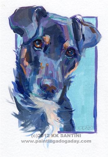 """Kepler, A Painted Sketch"" original fine art by Kimberly Santini"