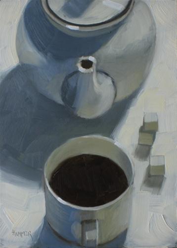 """Black & white 5x7  oil"" original fine art by Claudia Hammer"
