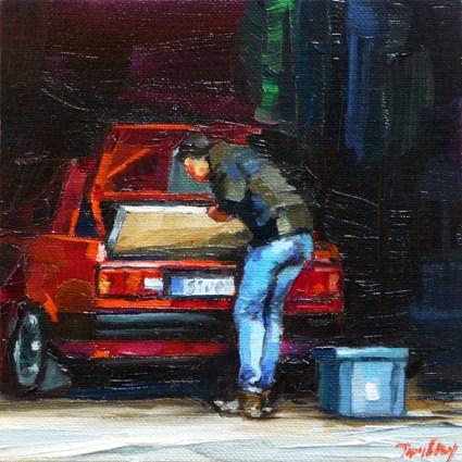 """""""the unload"""" original fine art by Jurij Frey"""