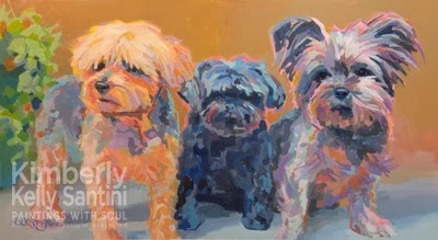 """""""Triple Threat, Completed !!"""" original fine art by Kimberly Santini"""