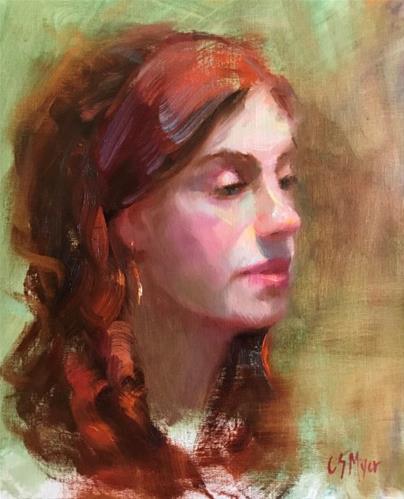 """""""Esmeralda"""" original fine art by Carol Myer"""