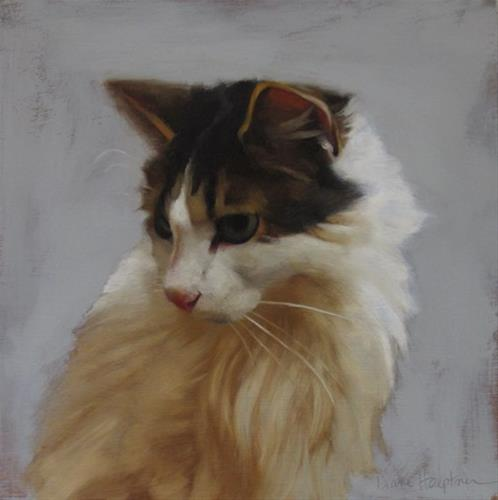 """Florence a cat from the Cleveland Animal Protective League"" original fine art by Diane Hoeptner"