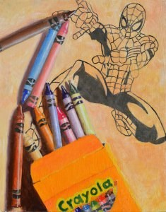 """Spider-man in Need  of Some Color"" original fine art by Robert Frankis"