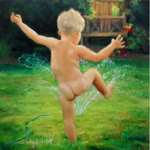"""Footloose"" original fine art by Cindy Gillett"