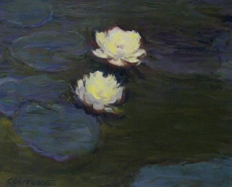 """""""Monet Water Lilies Reproduction"""" original fine art by Phil Couture"""