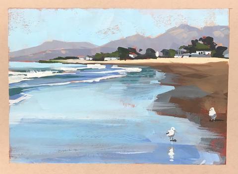"""High Tide"" original fine art by Sharon Schock"