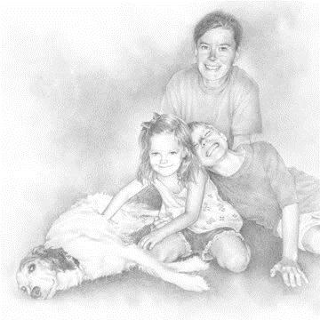 """""""Family Portrait"""" original fine art by Michael Naples"""