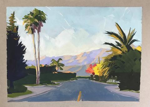 """Carpinteria at Sunset"" original fine art by Sharon Schock"